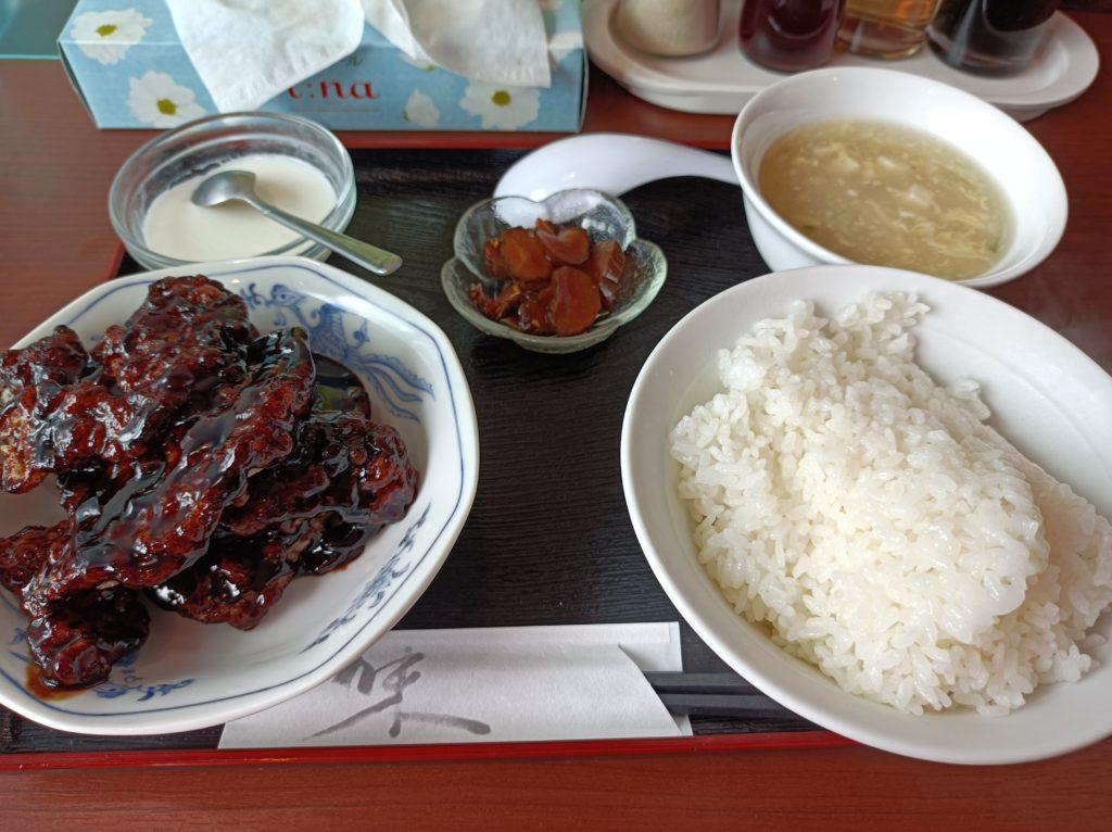 豚肉黒酢ソースランチ