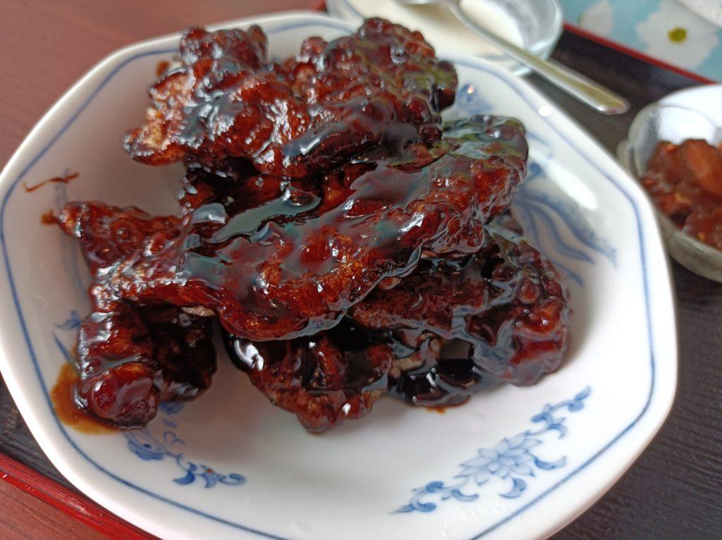豚肉黒酢ソース